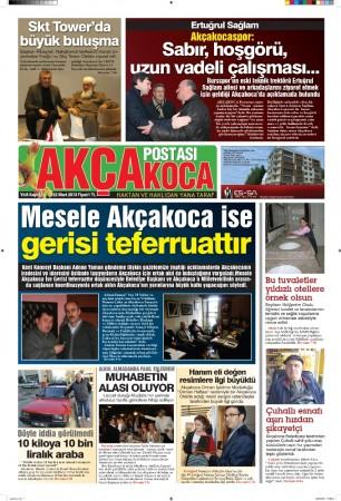 Akcakoca Postası Gazetesi Baskıları