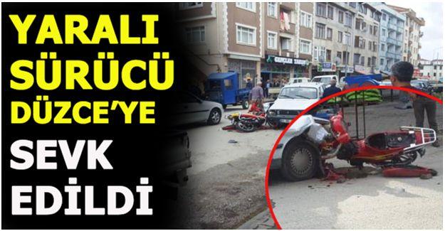 BAHADIR YALÇIN CADDESİ'NDE MOTOSİKLET KAZASI