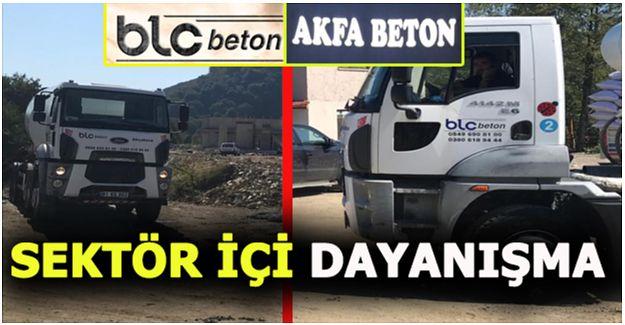 AKFA BETON TESİSİNİN BETONUNU RAKİBİ BLC BETON FİRMASI DÖKÜYOR