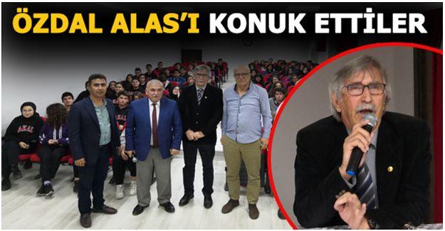 EMEKLİ ÖĞRETMEN VE GAZETECİ ÖZDAL ALAS ' MİSAFİR ETTİLER