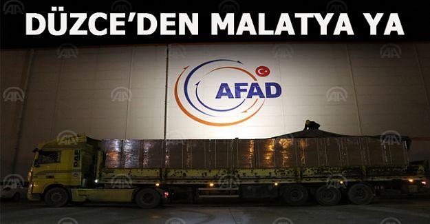 AFAD'ın Düzce deposundan Malatya'ya 6 tır yatak gönderildi