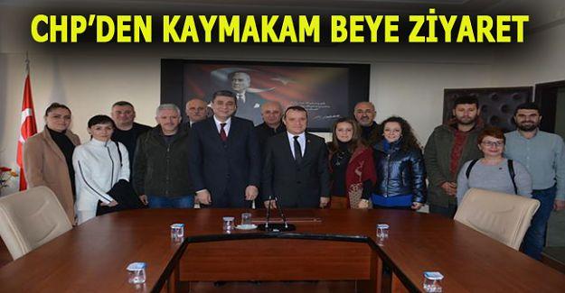 CHP'NİN YENİ İLÇE YÖNETİMİ, KAYMAKAM ÖZTÜRK'Ü ZİYARET ETTİ