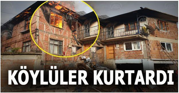 İki katlı ev çıkan yangında kullanılmaz hale geldi