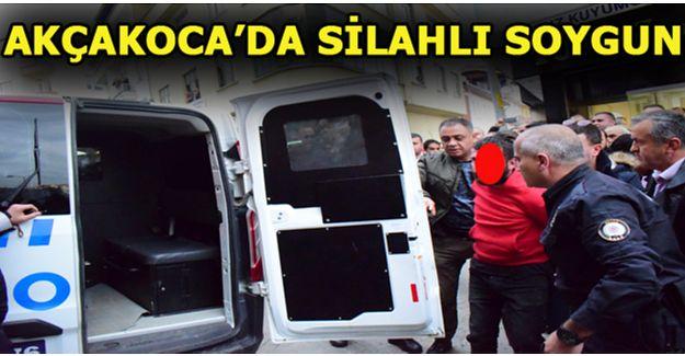 Akçakoca'da silahlı soygun girişimi
