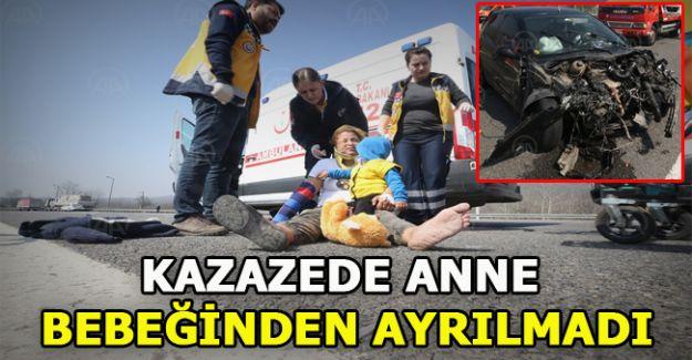 Anadolu Otoyolu'ndaki zincirleme trafik kazasında 4 kişi yaralandı