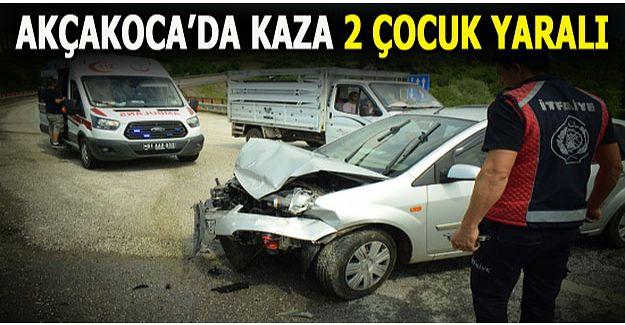AKÇAKOCA'DA TRAFİK KAZASI..!