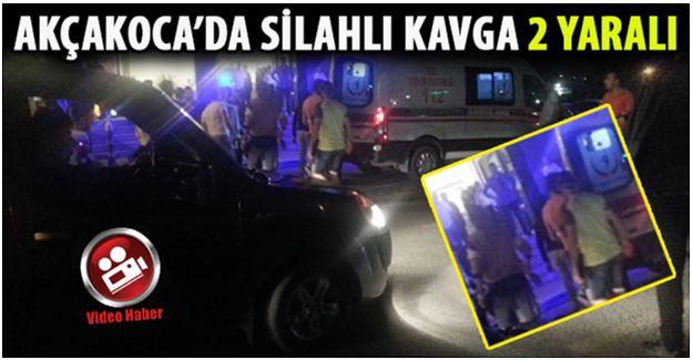 Akçakoca'da silahlı çatışma 2 yaralı.