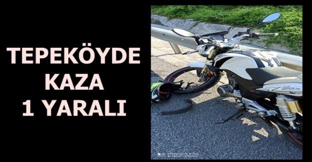 AKÇAKOCA'DA MOTOSİKLET KAZASI 1 YARALI