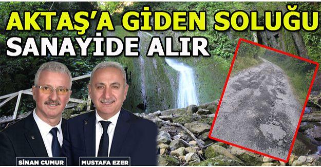 """AKTAŞ ŞELALESİ """"TAŞ"""" GİBİ YOLA SAHİP"""
