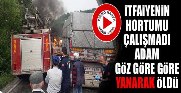 Feci olay: bir kişi yanarak hayatını kaybetti