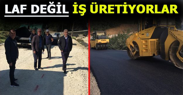 AK PARTİ HEYETİ ASFALT ÇALIŞMALARINI TAMAMLIYOR