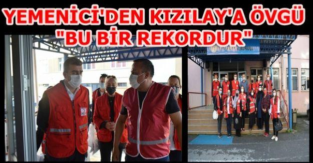 """BAŞKAN YEMENİCİ """"MAKSİMUM SEVİYEYE ULAŞTI"""""""