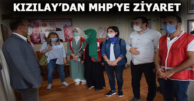 Türk Kızılay'ı Akçakoca şubesi MHP ilçe teşkilatını ziyaret etti
