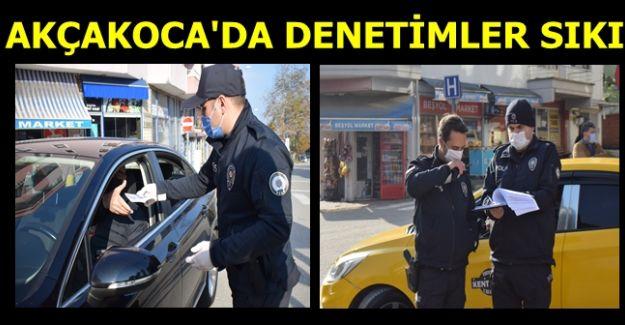 AKÇAKOCA'DA POLİSLER DENETİMLERİ ELDEN BIRAKMIYOR