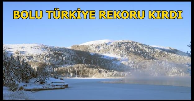 Bolu eksi 32 dereceyle bu gece Türkiye'nin en soğuk ili oldu