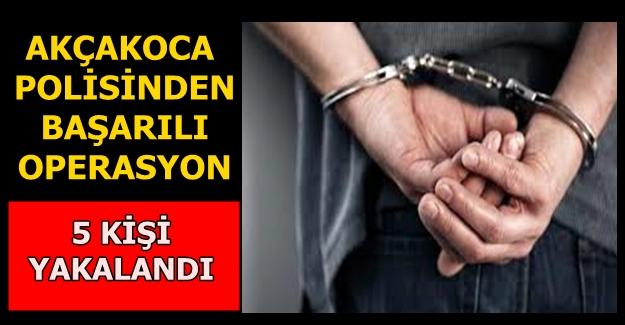 POLİS EKİPLERİ SUÇLULARI KISKIVRAK YAKALADI