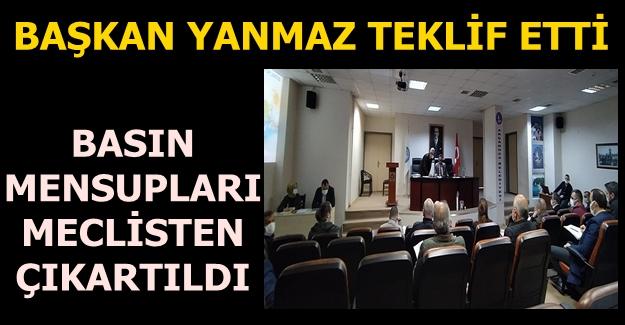 BASIN MENSUPLARI MECLİSE ALINMADI