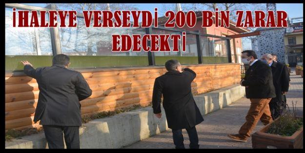 İHALE DEĞİL KENDİ İMKANLARIYLA YAPTI 200 BİN LİRA KAR ELDE ETTİ