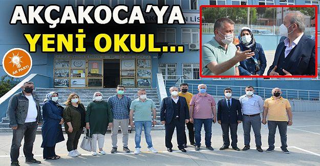 Ak Parti heyeti, Akçakoca'ya kazandırılan Fen Lisesi'ni ziyaret edip açıklamalar yaptı