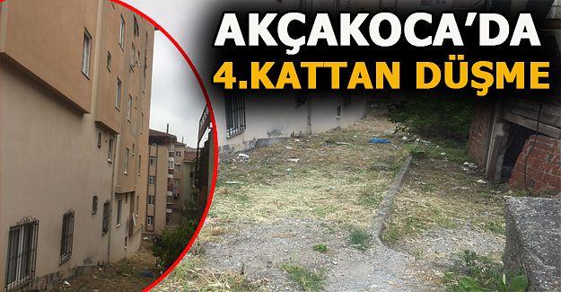 Akçakoca'da 4'üncü  kattan düşen kız yaralandı