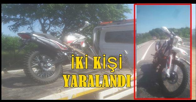 TEPEKÖY DE MOTOSİKLET KAZASI 2 YARALI