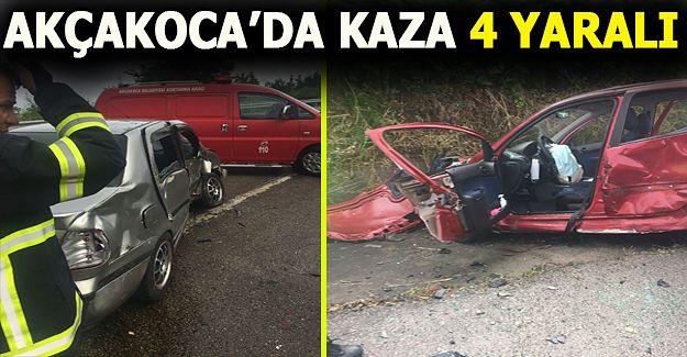 Cezaevi kavşağında kaza: 4 yaralı!..