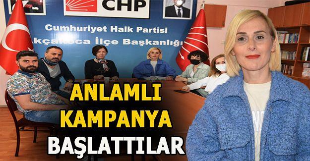CHP ilçe yönetimi cezaevindeki ihtiyaçlı kadınlar için yüklü bağış topladı