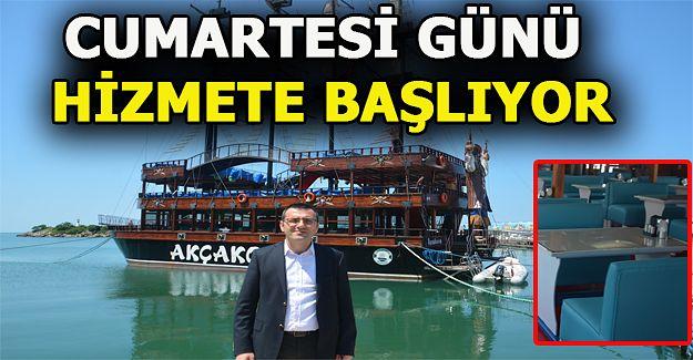 Katamaran Gezi Teknesi Cumartesi günü hizmete başlıyor.