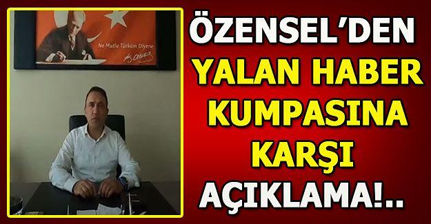 MHP İlçe Başkanı Özensel, kamuoyunu uyardı....