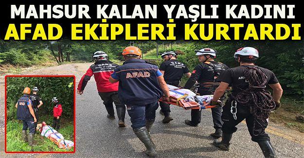 AKÇAKOCA'DA MAHSUR KALAN KİŞİ KURTARILDI...