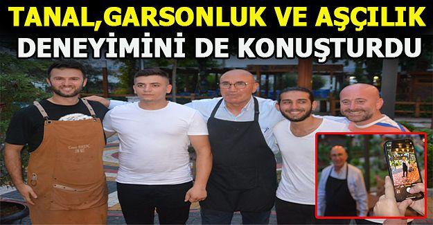 Akçakoca'ya gelen milletvekili Tanal aşçı önlüğünü giyinip hünerlerini gösterdi