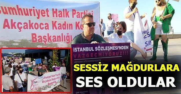 CHP ilçe örgütünden sessiz protesto