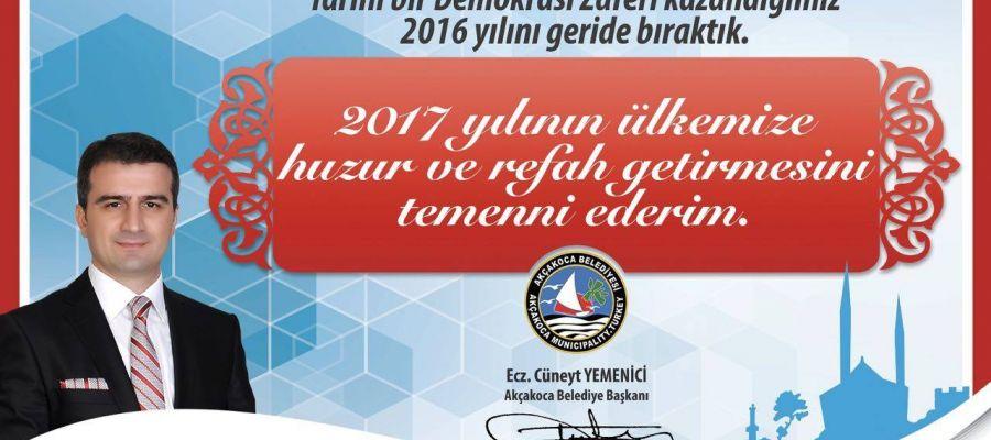 Akçakoca Belediye Başkanı Yeni Yılı Kutladı