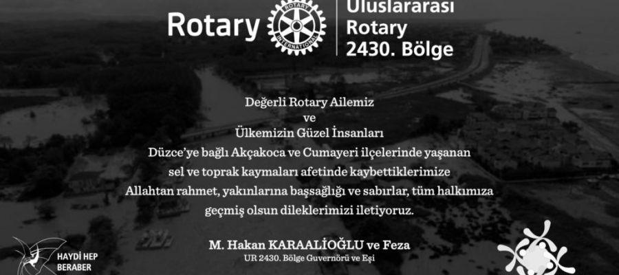 Akçakoca Rotary Kulübünden yardım