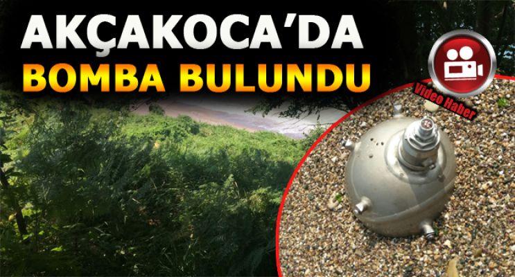 Akçakoca sahilinde top mermisi bulundu