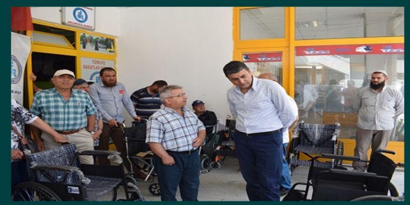 Akçakoca'da 18 adet tekerlekli sandalye dağıtımı yapıldı