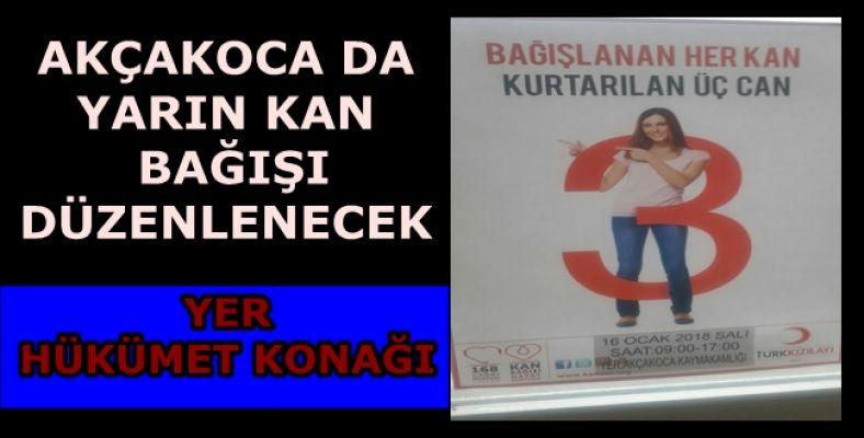 Akçakoca'da kan bağışı kampanyası düzenlenecek