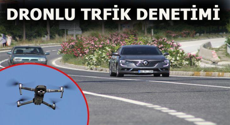 """Akçakoca'da""""Drone""""lu Trafik Denetimi"""