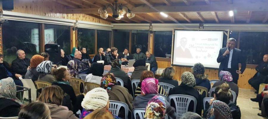 ALBAYRAK, YUKARI MAHALLE TOPLANTISINDA PROJELERİNİ ANLATTI