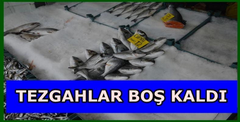 BALIK TEZGAHLARI BOŞ KALDI