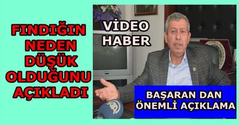 BAŞARAN FINDIKTA Kİ  TEHLİKEYİ AÇIKLADI (VİDEO HABER)