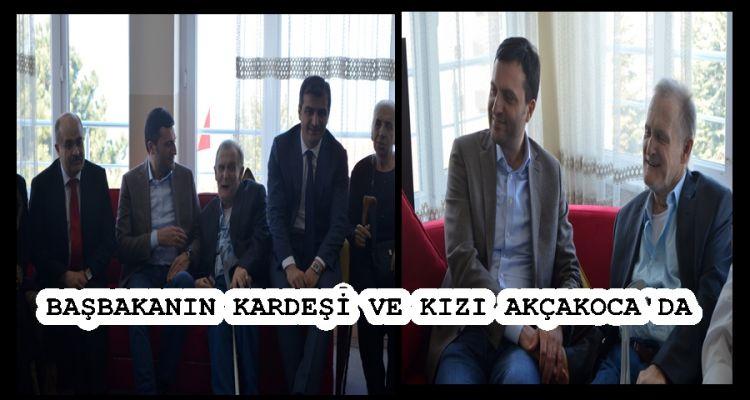 Başbakan Yıldırım'ın kardeşi ve kızı Akçakoca'da (VİDEO HABER )