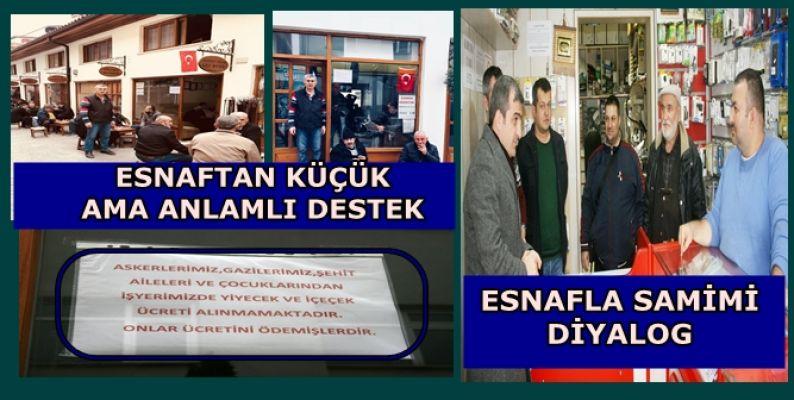 BAŞKANLA ESNAFLAR ARASINDA HOŞ SOHBETLER