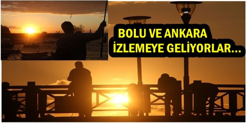 Batı Karadeniz'in incisinde gün batımı