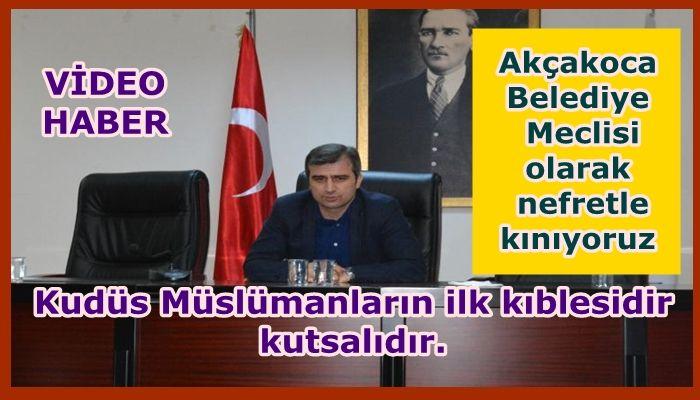 BELEDİYE MECLİSİ KUDÜS KARARINA ORTAK TEPKİ GÖSTERDİ