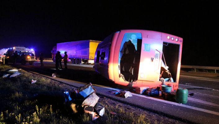BOLU da Trafik Kazası: 22 Yaralı