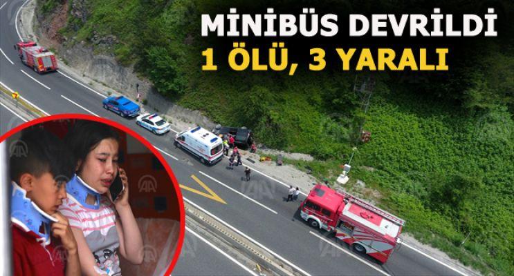 Bolu Dağı'nda minibüs devrildi: 1 ölü, 3 yaralı