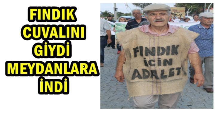 CHP Lİ BAŞKAN FINDIK ÇUVALINI GİYEREK TEPKİ GÖSTERDİ (video haber)....