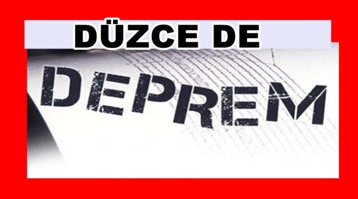 DÜZCE'DE 40 DAKİKADA İKİ DEPREM