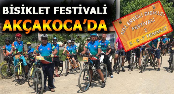 Düzce'de bisiklet festivali düzenlendi